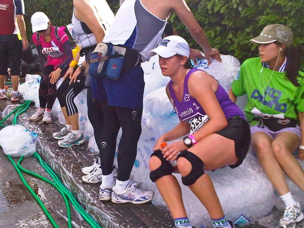 Honolulu Marathon ice
