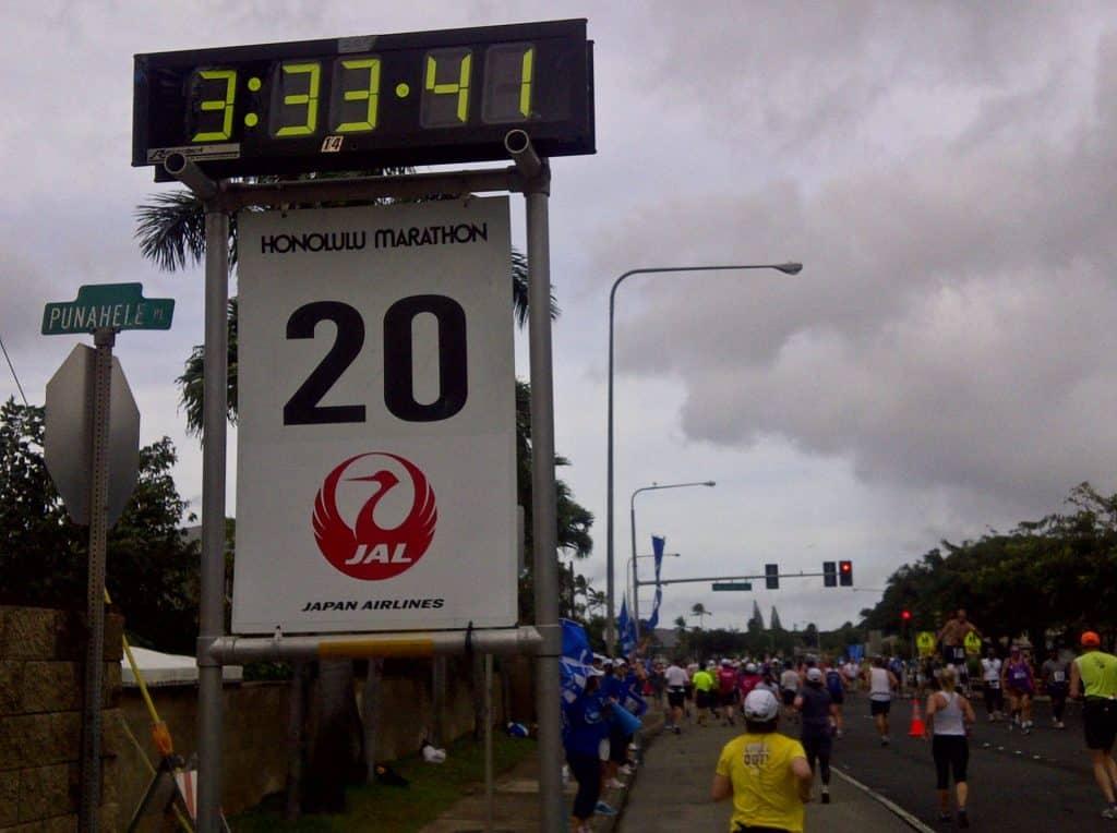 Honolulu Marathon Mile 20