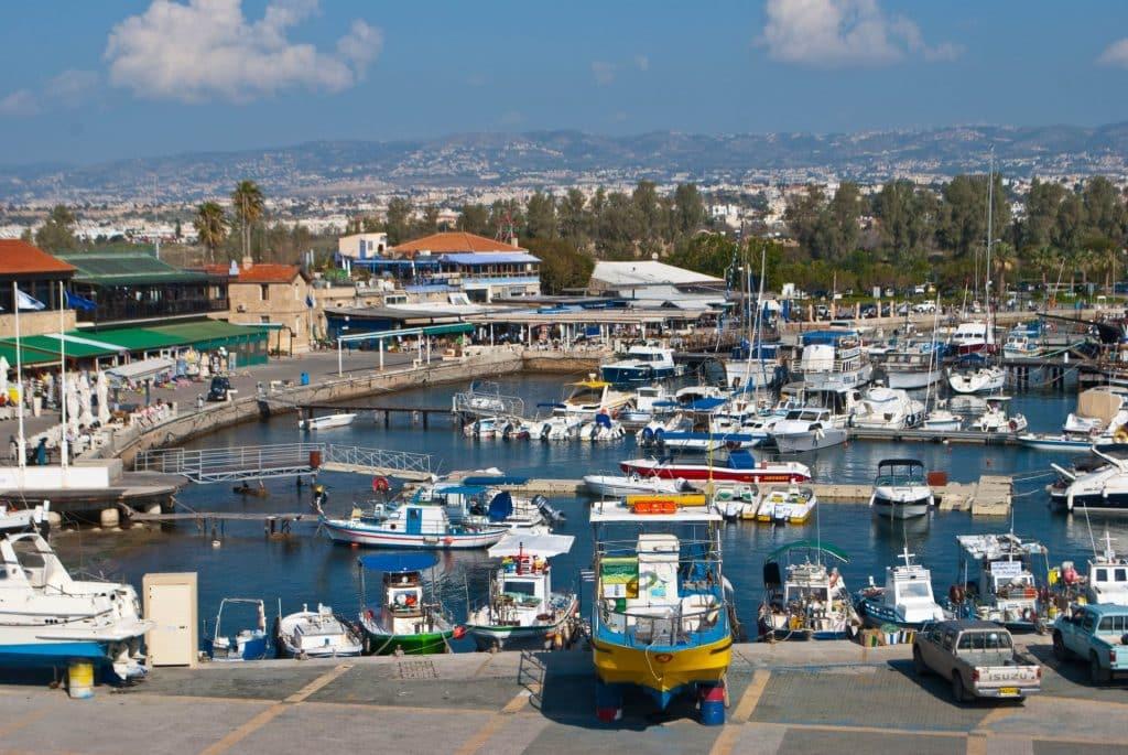 Paphos Harbor Cyprus Greece