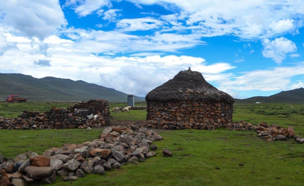 Lesotho people Basotho village