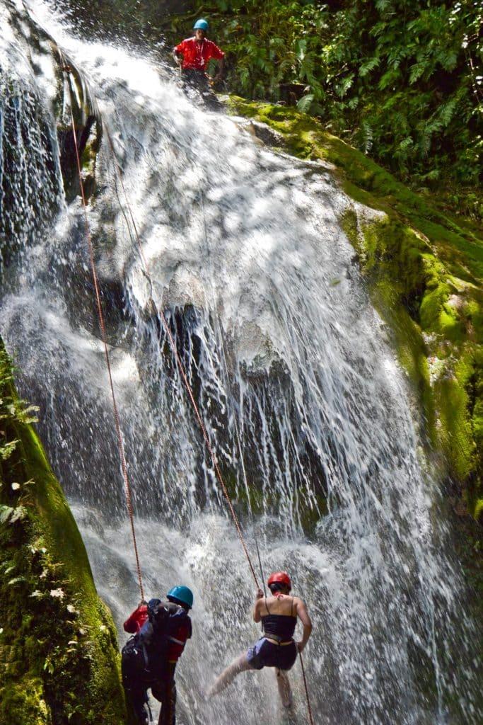Mele Cascades waterfall Vanuatu rappelling