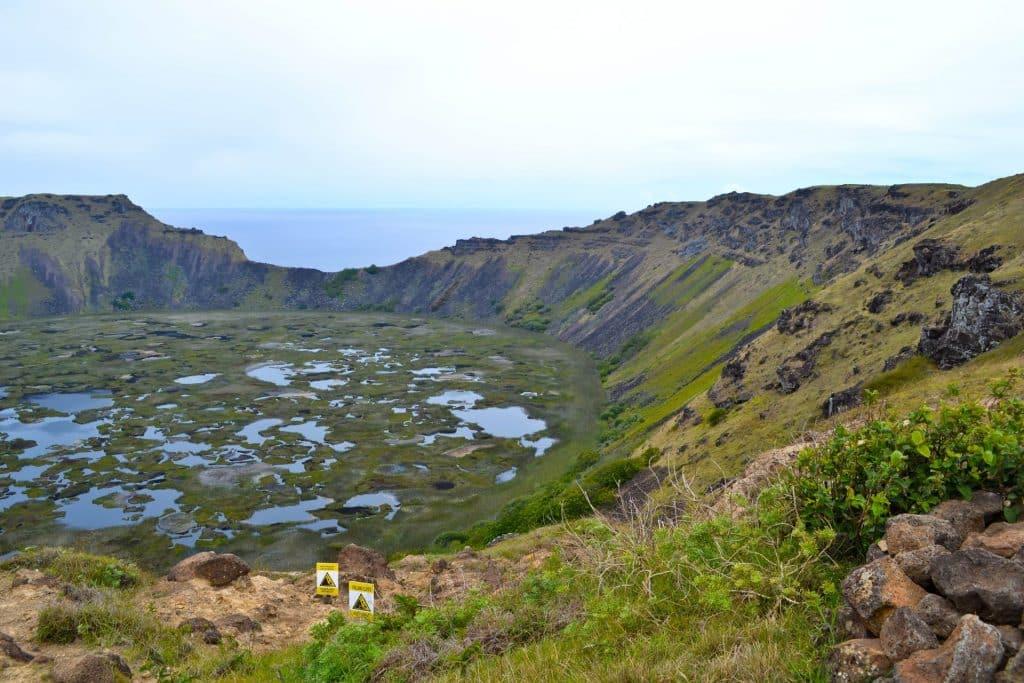 Rano Kau volcano Easter Island Rapa nui