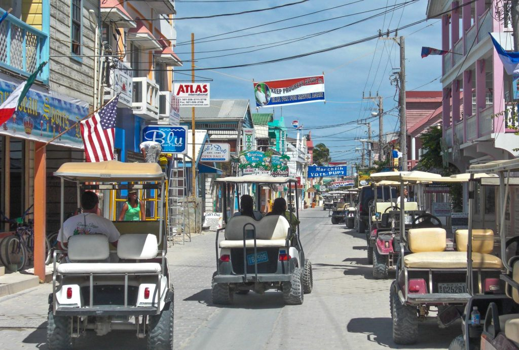 San Pedro Town Golf Carts Ambergris Caye Belize