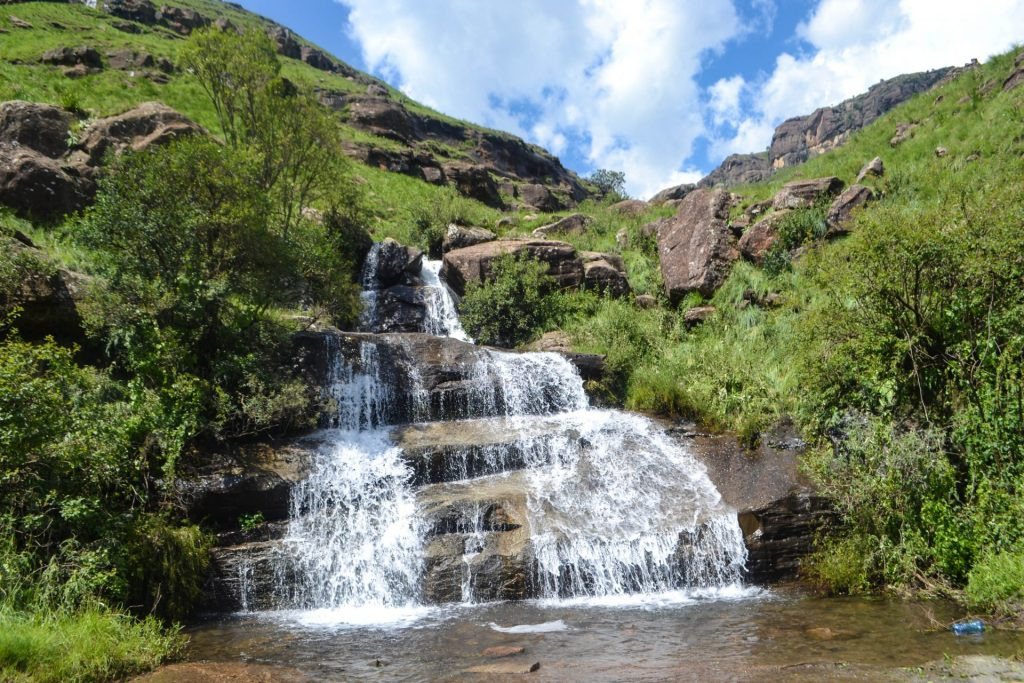 Lesotho Sani Pass Waterfall
