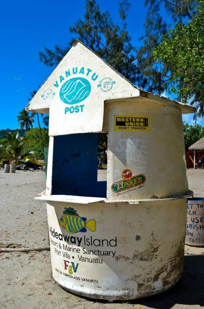 Vanuatu underwater post office Hideaway Island