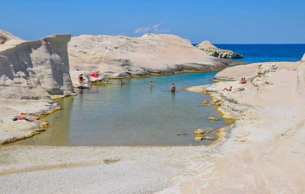 Sarakiniko Beach Milos Greek Islands