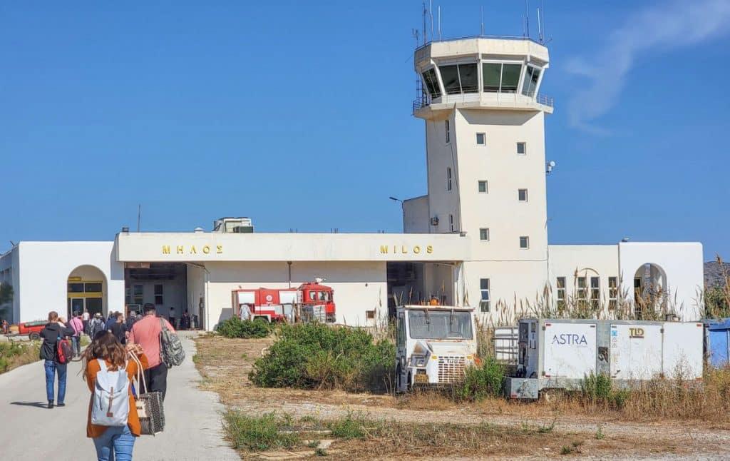 Milos airport Greece