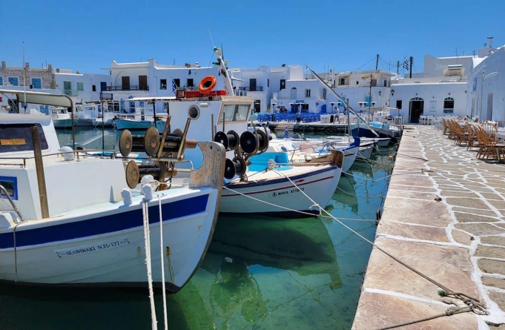 Naoussa Fishing Boats Paros Greece