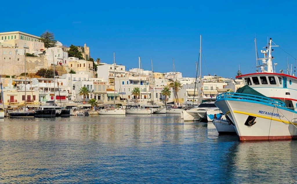 Naxos Town Port Greece